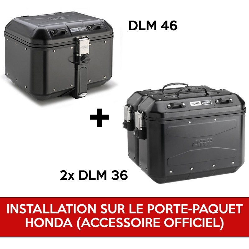 gividolomitipackb : Givi Dolomiti complete pack for X-ADV WITH OEM holder Honda X-ADV 750