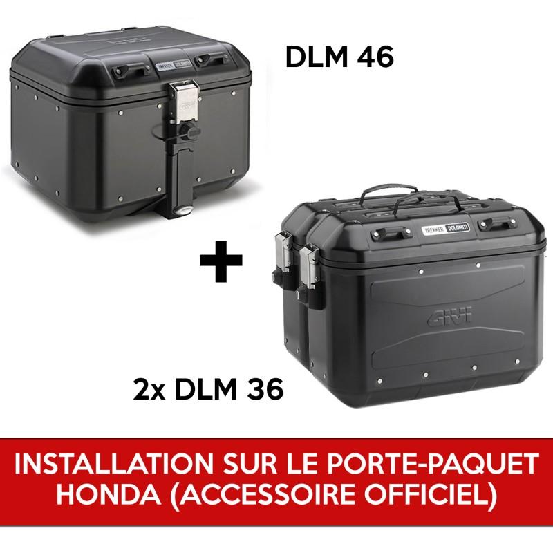 gividolomitipackb : Pack Givi Dolomiti pour X-ADV AVEC porte paquet d'origine Honda X-ADV 750