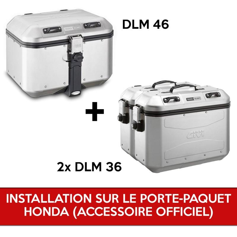 gividolomitipack : Pack Givi Dolomiti pour X-ADV AVEC porte-paquet d'origine Honda X-ADV 750