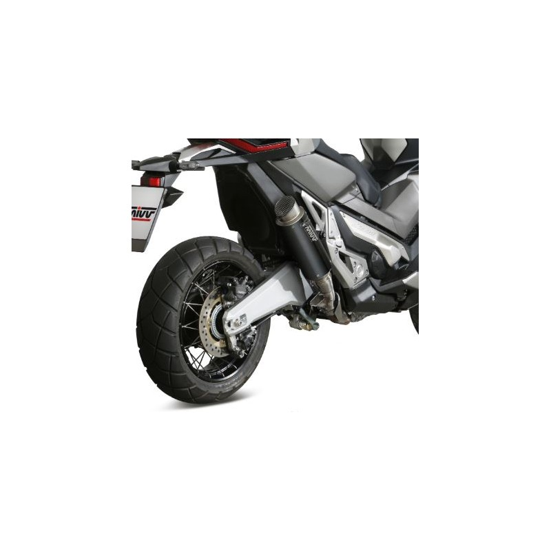 H.066.LXBP - 76021690 : Mivv GP Pro Black steel exhaust Honda X-ADV 750