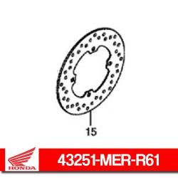43251-MER-R61 : Disque de frein arrière Honda Honda X-ADV 750