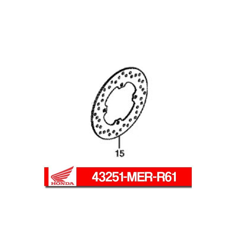 43251-MER-R61 : Honda rear brake disc Honda X-ADV 750