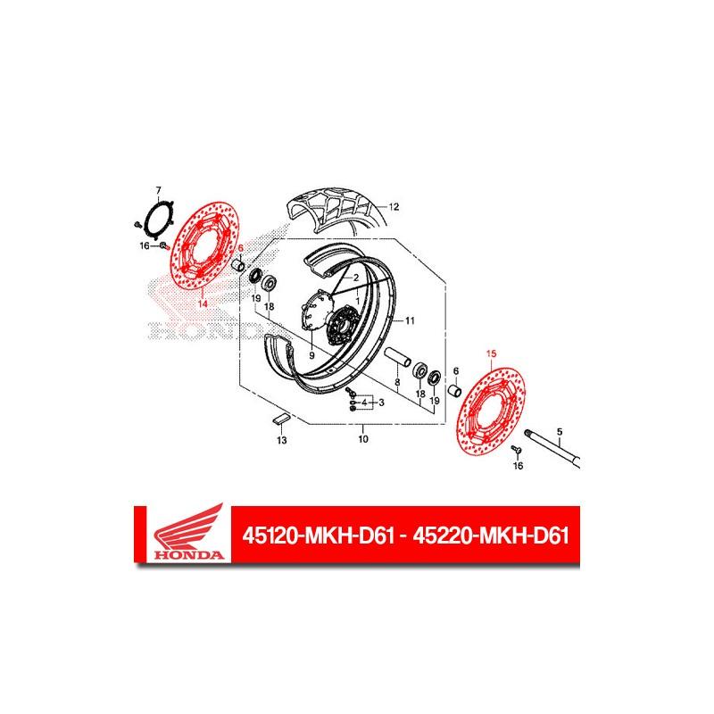 45120-MKH-D61 + 45220-MKH-D61 : Honda front brake discs Honda X-ADV 750