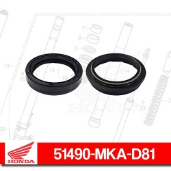 51490-MKA-D81 : Honda fork oil seal Honda X-ADV 750