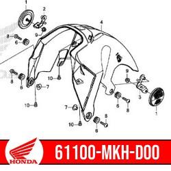 61100-MKH-D00 : Garde-boue avant intérieur origine Honda X-ADV 750