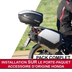 shadfullpack3 : Pack premium top case/valises Shad pour X-ADV AVEC porte-paquet d'origine X-ADV
