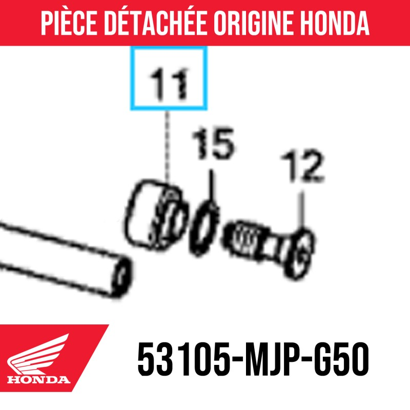 53105-MJP-G50 : Embout de guidon origine Honda Honda X-ADV 750