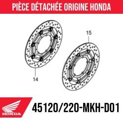 45120-MKH-D01 + 45220-MKH-D01 : Dischi freno anteriori Honda 2021 Honda X-ADV 750