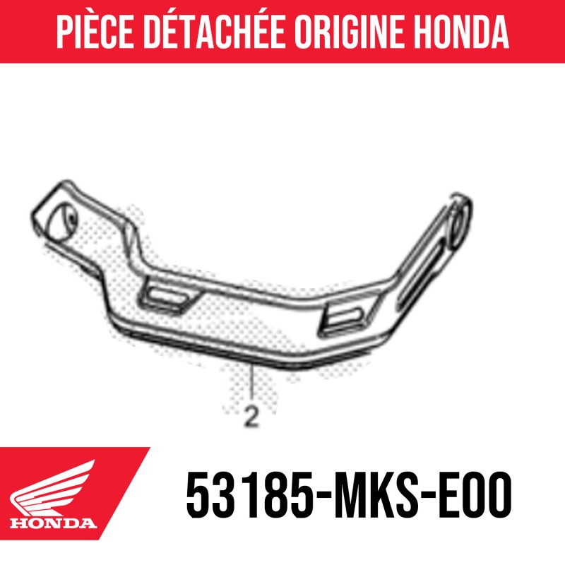 53185-MKS-E00 : Honda handguard 2021 Honda X-ADV 750