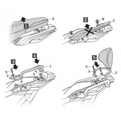 H0XD71RV : Shad passenger backrest Honda X-ADV 750