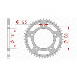 47002596 : AFAM 38 teeth sprocket Honda X-ADV 750