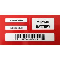 31500-MCR-305 : Batteria Originale Honda YTZ14S Honda X-ADV 750
