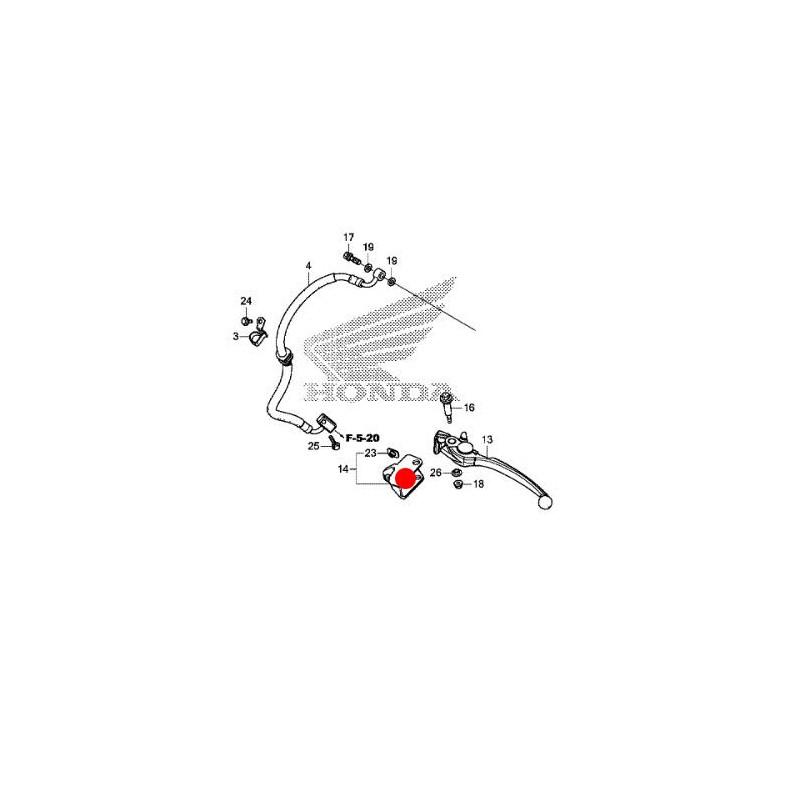 53196-MKH-D00 : Attacco per paramani originale Honda Honda X-ADV 750