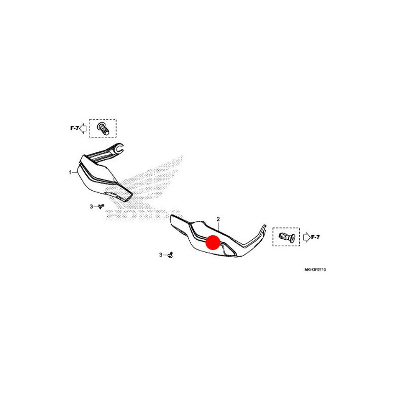 53185-MJP-G60ZB + 90106-MCW-D00 : Honda OEM handguards X-ADV