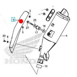 18342-MKH-D01 : Honda OEM exhaust shield X-ADV