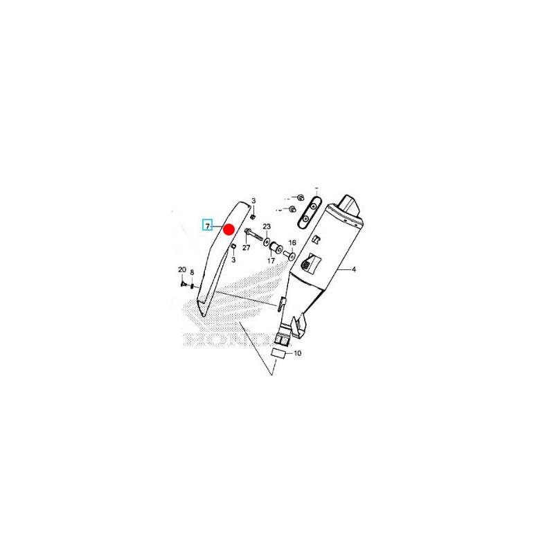 18342-MKH-D01 + visserie : Scudo di scarico OEM Honda Honda X-ADV 750