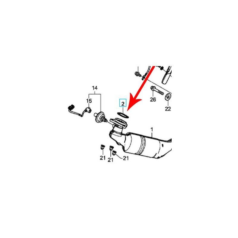 18291-MGS-D31 : Honda OEM exhaust header seal Honda X-ADV 750