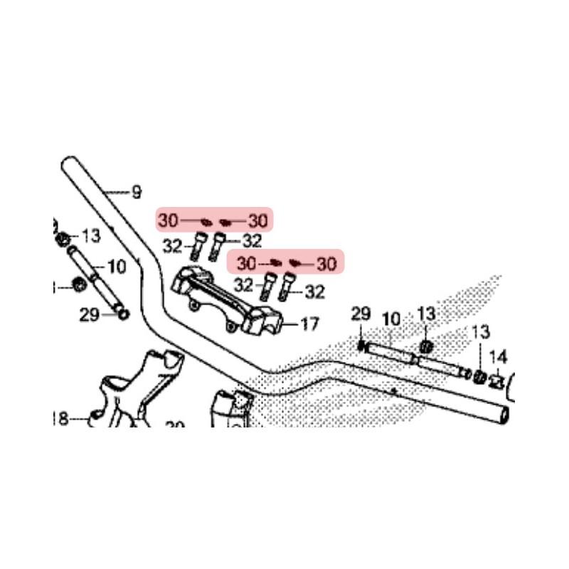 91456-MW3-600 : OEM Handlebar bolt cap Honda X-ADV 750