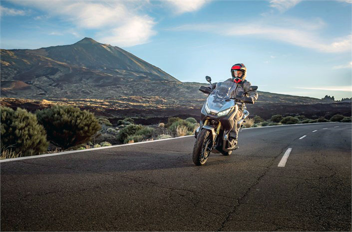 Test et demo avec pilote Honda X-ADV